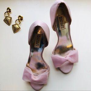◽️Badgley Mischka◽️soft pink bow xango heels